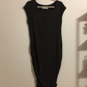 Grey Ruched Side Maternity Dress Size L